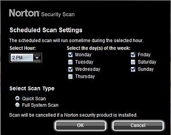 norton scheduler