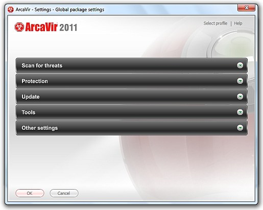arcavir settings streamlined